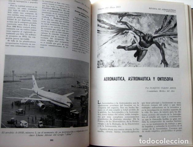 Militaria: Revista de aeronáutica y astronáutica. 6 tomos. Años 1969, 1970, 1971, 1972, 1973 y 1974 - Foto 2 - 111300335