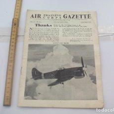 Militaria: AIR TRAINING CORPS GAZETTE. VOL. IV, NO.11 APRIL 1944. THE AIR LEAGUE OF BRITISH EMPIRE. AVIACIÓN.. Lote 112000339