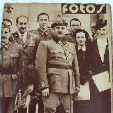 Militaria: RV-91. FOTOS. SEMANARIO GRÁFICO NACIONAL-SINDICALISTA. GUERRA CIVIL. Nº 125. 18.07.1939. Lote 112536251