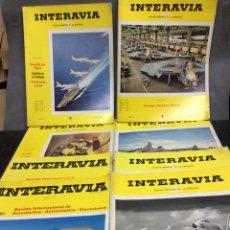 Militaria: INTERAVIA REVISTA INTERNACIONAL DE AERONÁUTICA ASTRONÁUTICA ELECTRONICA - LOTE 43 EJEMPLARES. Lote 113180435
