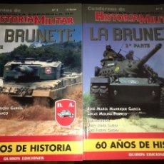 Militaria: PRIMERA Y SEGUNDA PARTE. REVISTA ESPAÑOLA DE HISTORIA MILITAR. CUADERNOS Nº 5. BRUNETE. Lote 113302911