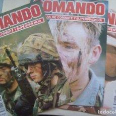 Militaria: LOTE DE 3 Nº REVISTA COMANDO TECNICA DE COMBATE Y SUPERVIVENCIA . Nº 62, 63 Y 64. Lote 113984919