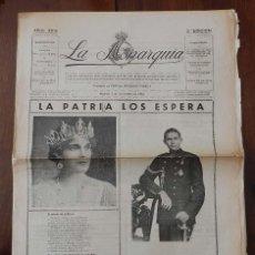 Militaria: PERIODICO LA MONARQUIA, 1 DE NOVIEMBRE DE 1933, PLENA REPUBLICA, DON JUAN DE BORBON Y DOÑA MARIA DE . Lote 161198116