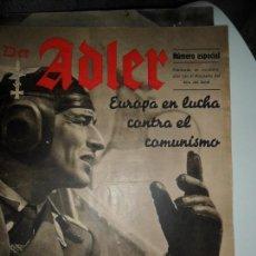 Militaria: DER ADLER, EUROPA EN LUCHA CONTRA EL COMUNISMO, NÚMERO ESPECIAL, 1943. Lote 115001075
