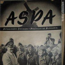 Militaria: ASPA, ACTUALIDADES SOCIALES Y POLÍTICAS DE ALEMANIA, Nº 2, ENERO DE 1943. Lote 115002007