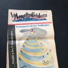 Militaria: LA AMETRALLADORA. SEMANARIO DE LOS SOLDADOS. GUERRA CIVIL ESPAÑOLA. Nº 105. 29 DE ENERO DE 1939. Lote 115225463