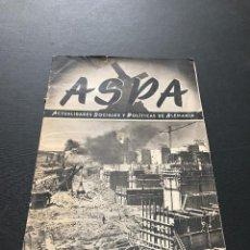 Militaria: ASPA, ACTUALIDADES SOCIALES Y POLITICAS DE ALEMANIA. Nº 13 1943 NAZIS GÖTZ BERLICHINGEN MANO HIERRO. Lote 115279407