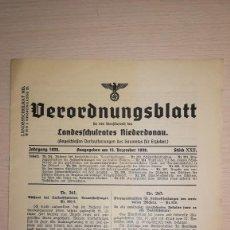 Militaria: PUBLICACION ALEMANA, EPOCA III REICH. AÑO 1939. Lote 115326503