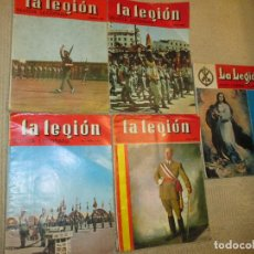 Militaria: LA LEGIÓN. REVISTA LEGIONARIA, LOTE DE CINCO REVISTAS DE 1967 Y 1968. Lote 116855547
