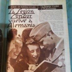 Militaria: LEGION CONDOR ,REVISTAS FOTOS DE JUNIO A DICIEMBRE 1939.. Lote 117069663