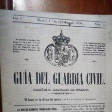 Militaria: GUIA DEL GUARDIA CIVIL. AÑO 1 MADRID 1 DE OCTUBRE DE 1850 NÚM. 1 (COPIA). Lote 156711312