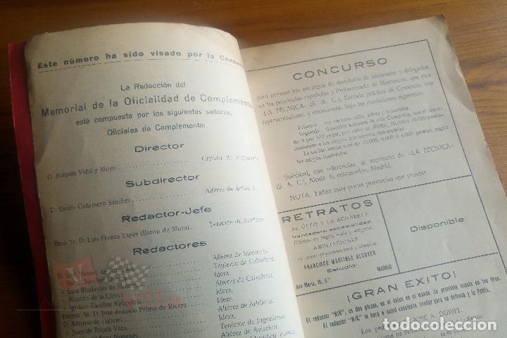 Militaria: Memorial de la Oficialidad de Complemento - Año I - Nº 2 - 1927 - Foto 4 - 117909099