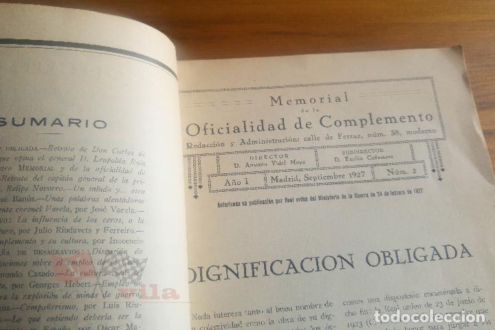 Militaria: Memorial de la Oficialidad de Complemento - Año I - Nº 2 - 1927 - Foto 5 - 117909099