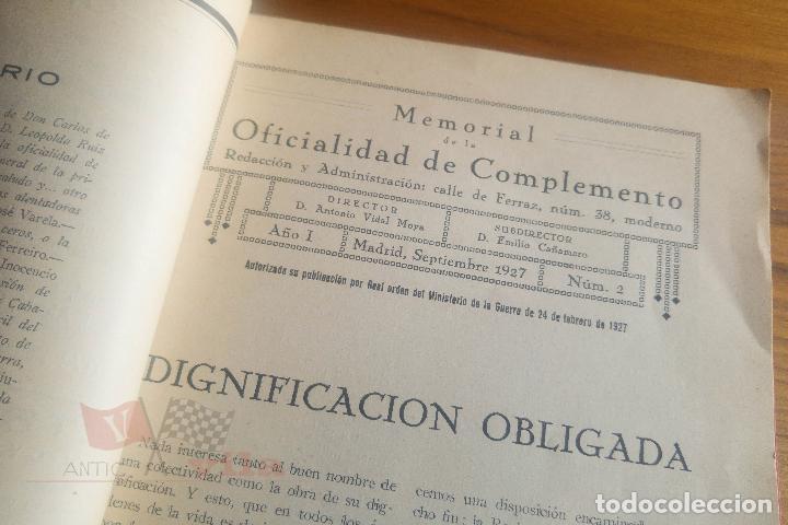 Militaria: Memorial de la Oficialidad de Complemento - Año I - Nº 2 - 1927 - Foto 6 - 117909099