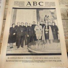 Militaria: PERIÓDICO ABC . 12 DICIEMBRE 1942 . INTERIOR MUÑOZ GRANDES, DIVISION AZUL. Lote 119599167