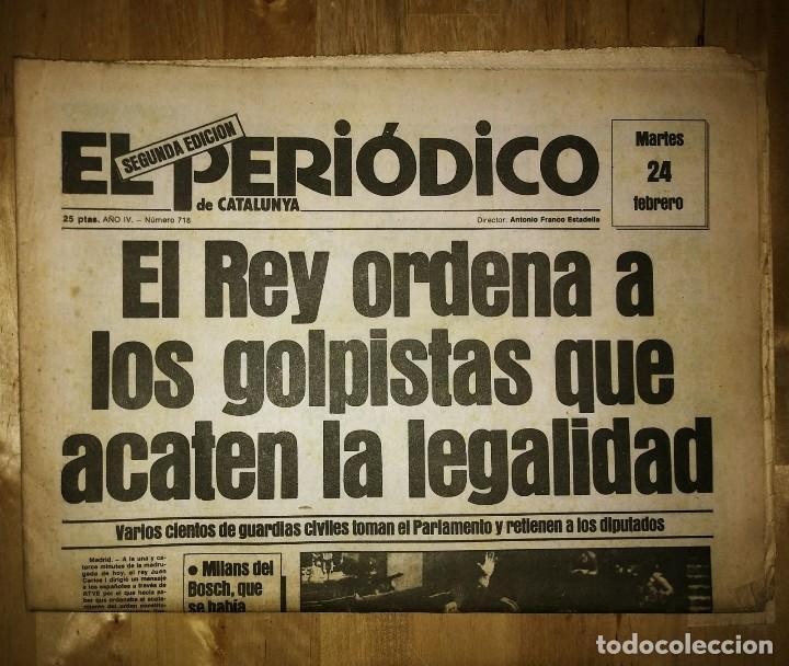 Militaria: Golpe de estado 23F. El Periódico de Catalunya. 24 de febrero 1981. Segunda edición. 39 páginas - Foto 3 - 120156691