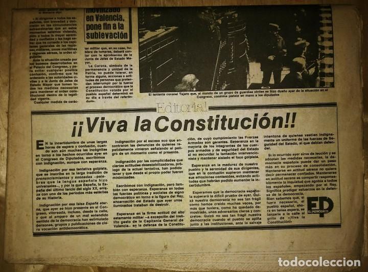Militaria: Golpe de estado 23F. El Periódico de Catalunya. 24 de febrero 1981. Segunda edición. 39 páginas - Foto 4 - 120156691