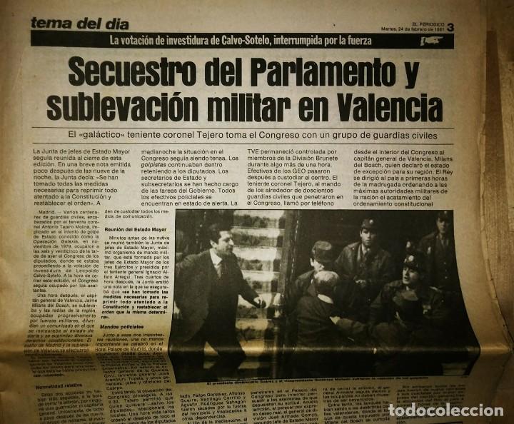 Militaria: Golpe de estado 23F. El Periódico de Catalunya. 24 de febrero 1981. Segunda edición. 39 páginas - Foto 5 - 120156691