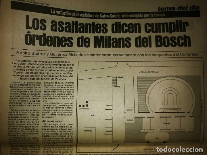 Militaria: Golpe de estado 23F. El Periódico de Catalunya. 24 de febrero 1981. Segunda edición. 39 páginas - Foto 6 - 120156691
