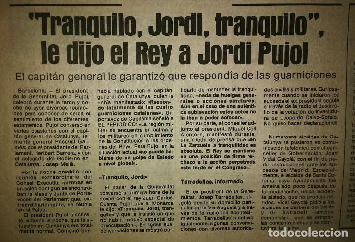 Militaria: Golpe de estado 23F. El Periódico de Catalunya. 24 de febrero 1981. Segunda edición. 39 páginas - Foto 9 - 120156691