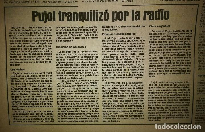 Militaria: Golpe de estado 23F. El Periódico de Catalunya. 24 de febrero 1981. Segunda edición. 39 páginas - Foto 11 - 120156691