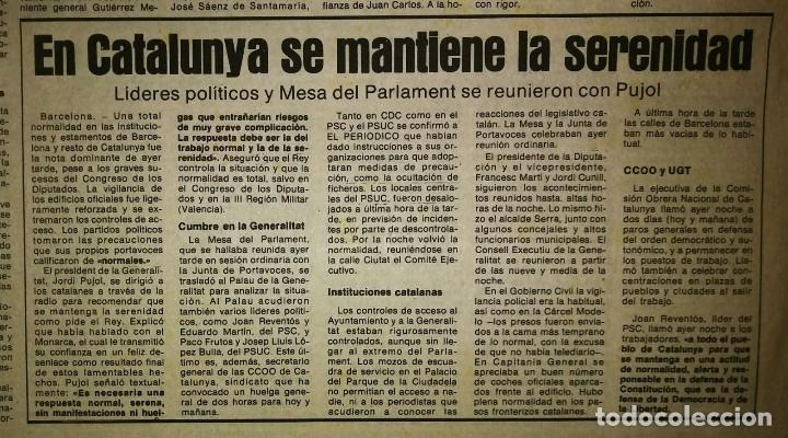 Militaria: Golpe de estado 23F. El Periódico de Catalunya. 24 de febrero 1981. Segunda edición. 39 páginas - Foto 12 - 120156691