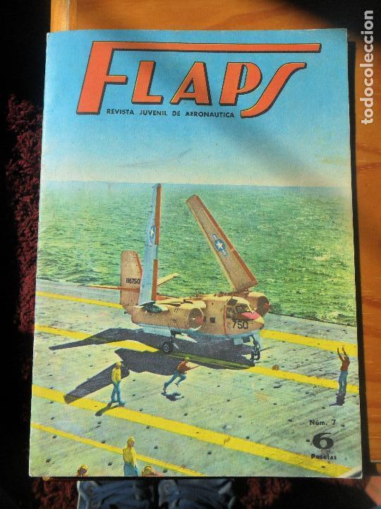 FLAPS REVISTA JUVENIL DE AERONAUTICA Nº 7 DE 1961 - BREGUET XIX, MANFRED VON RIGHTHOFEN, BUCCANER... (Militar - Revistas y Periódicos Militares)