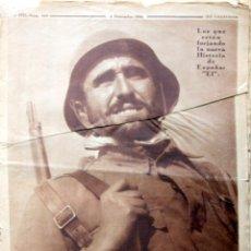 Militaria: REVISTA CRONICA 1936 GUERRA CIVIL SECTOR REPUBLICANO-ENTIERRO DURRUTI CNT/FAI/MACIA-DEFENSA MADRID. Lote 121485095