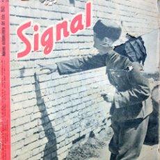 Militaria: REVISTA SIGNAL PROPAGANDA III REICH WWII-NRO 24 1943-EUROPA DEL ESTE-¡MAGNIFICAS FOTOS EN COLOR!. Lote 121485439