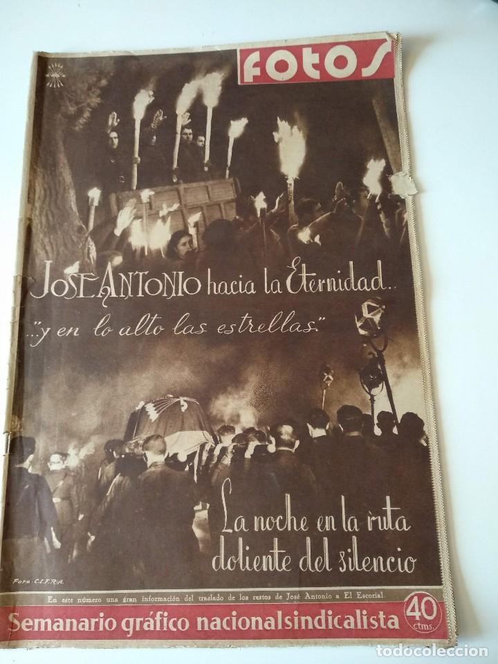 SEMANARIO GRAFICO FALANGISTA Nº144 1939. JOSE ANTONIO PRIMO RIVERA HACIA LA ETERNIDAD (Militar - Revistas y Periódicos Militares)
