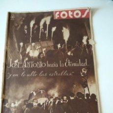 Militaria: SEMANARIO GRAFICO FALANGISTA Nº144 1939. JOSE ANTONIO PRIMO RIVERA HACIA LA ETERNIDAD. Lote 123137399