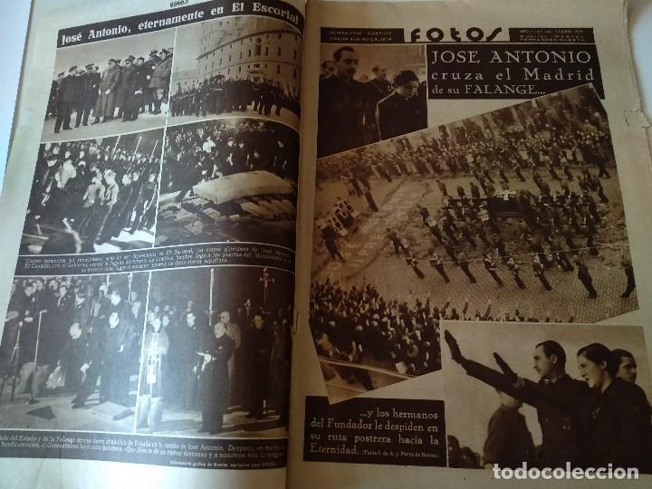 Militaria: SEMANARIO GRAFICO FALANGISTA Nº144 1939. JOSE ANTONIO PRIMO RIVERA HACIA LA ETERNIDAD - Foto 2 - 123137399