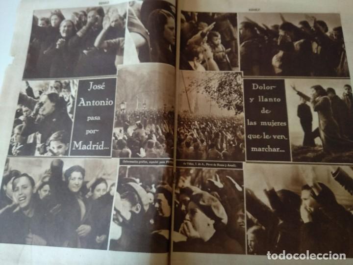 Militaria: SEMANARIO GRAFICO FALANGISTA Nº144 1939. JOSE ANTONIO PRIMO RIVERA HACIA LA ETERNIDAD - Foto 3 - 123137399