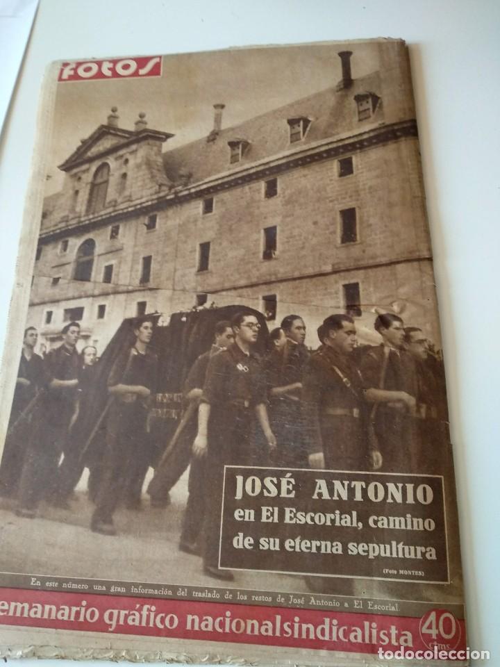 Militaria: SEMANARIO GRAFICO FALANGISTA Nº144 1939. JOSE ANTONIO PRIMO RIVERA HACIA LA ETERNIDAD - Foto 10 - 123137399