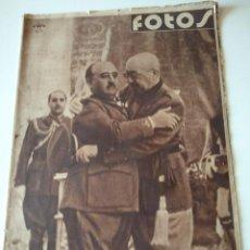 Militaria: SEMANARIO GRAFICO FALANGISTA Nº136 1939. FRANCO EN RUINAS ALCAZAR TOLEDO. Lote 123137855
