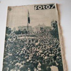 Militaria: SEMANARIO GRAFICO FALANGISTA Nº101 1939. BARCELONA PARA ESPAÑA! GUERRA CIVIL. Lote 123138087