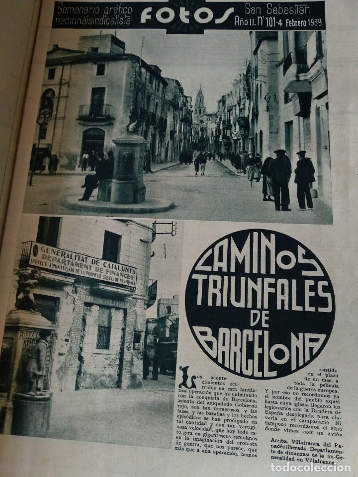 Militaria: SEMANARIO GRAFICO FALANGISTA Nº101 1939. BARCELONA PARA ESPAÑA! GUERRA CIVIL - Foto 2 - 123138087