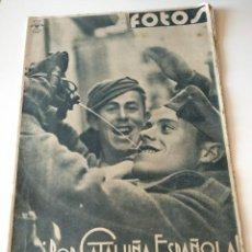 Militaria: FOTOS SEMANARIO GRAFICO FALANGISTA Nº102 1 939. POR CATALUÑA ESPAÑOLA! GUERRA CIVIL. Lote 123138135