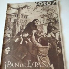 Militaria: FOTOS SEMANARIO GRAFICO FALANGISTA Nº100 1939. PAN DE ESPAÑA EN TARRAGONA, GUERRA CIVIL. Lote 123138183