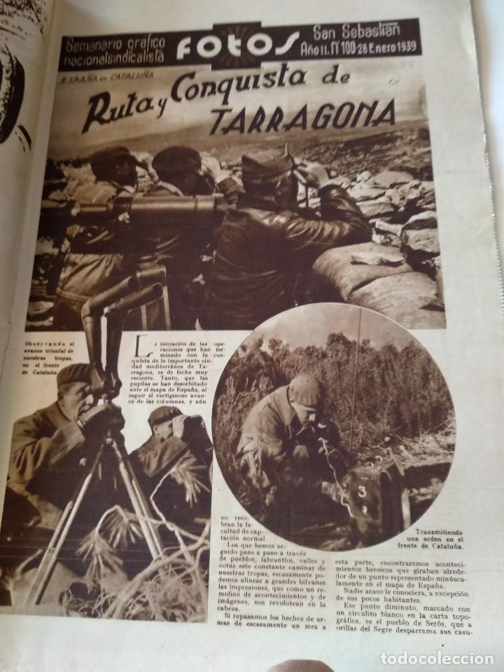 Militaria: FOTOS SEMANARIO GRAFICO FALANGISTA Nº100 1939. PAN DE ESPAÑA EN TARRAGONA, GUERRA CIVIL - Foto 2 - 123138183