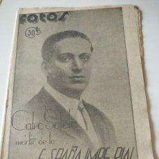 Militaria: FOTOS SEMANARIO GRAFICO FALANGISTA Nº21 1937. CALVO SOTELO MARTIR DE ESPAÑA IMPERIAL, GUERRA CIVIL. Lote 123138767