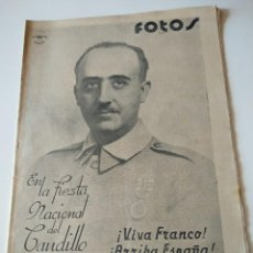 Militaria: FOTOS SEMANARIO GRAFICO FALANGISTA Nº32 1937. FIESTA NACIONAL CAUDILLO, VIVA FRANCO! GUERRA CIVIL. Lote 123140171