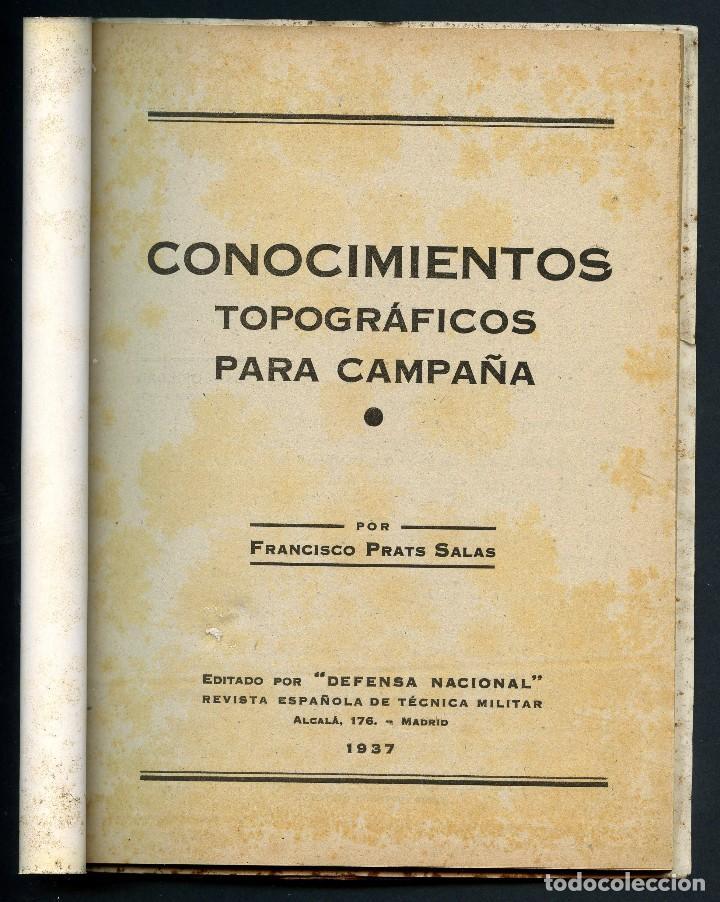 Militaria: GUERRA CIVIL, REVISTA, CONOCIMIENTOS TOPOGRÁFICOS, MADRID, 1937 - Foto 2 - 125171619