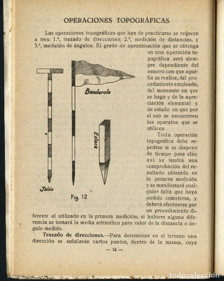 Militaria: GUERRA CIVIL, REVISTA, CONOCIMIENTOS TOPOGRÁFICOS, MADRID, 1937 - Foto 3 - 125171619