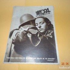Militaria: AHORA DIARIO DE LA JUVENTUD ORGANO DE JSU JUVENTUDES SOCIALISTAS UNIFICADAS PLENA GUERRA CIVIL 1937. Lote 151903765