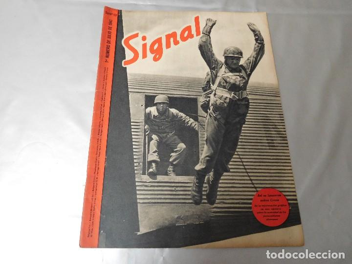 SIGNAL 1ER NÚMERO DE JULIO DE 1941 EDICIÓN ESPAÑOLA (Militar - Revistas y Periódicos Militares)