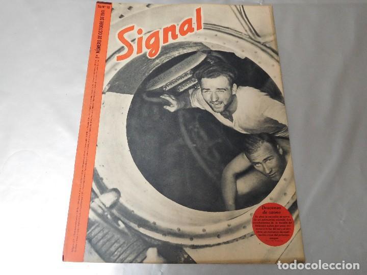 SIGNAL 1ER NÚMERO DE OCTUBRE DE 1941 EDICIÓN ESPAÑOLA (Militar - Revistas y Periódicos Militares)