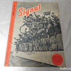 Militaria: SIGNAL 1ER NÚMERO DE JULIO DE 1943 EDICIÓN ESPAÑOLA. Lote 126896739