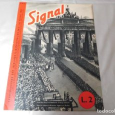Militaria: SIGNAL 10 DE AGOSTO DE 1940 EDICIÓN EN ITALIANO Y ALEMAN Nº 9. Lote 126898119