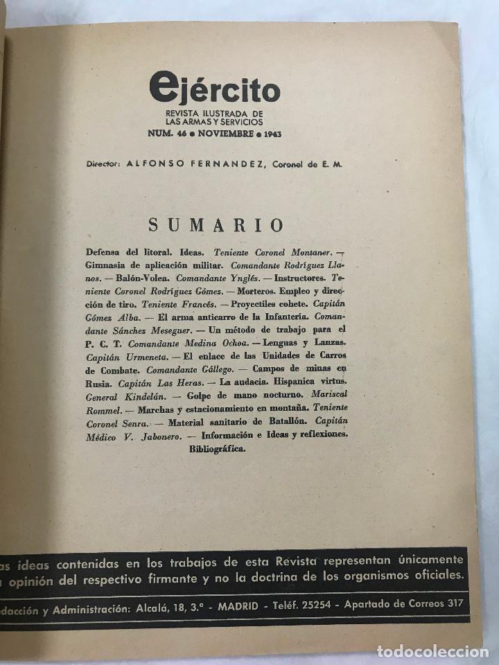 Militaria: Ejército. Revista ilustrada de las Armas y Servicios nº 46 NOVIEMBRE 1943 - Ministerio del Ejército - Foto 3 - 127207795